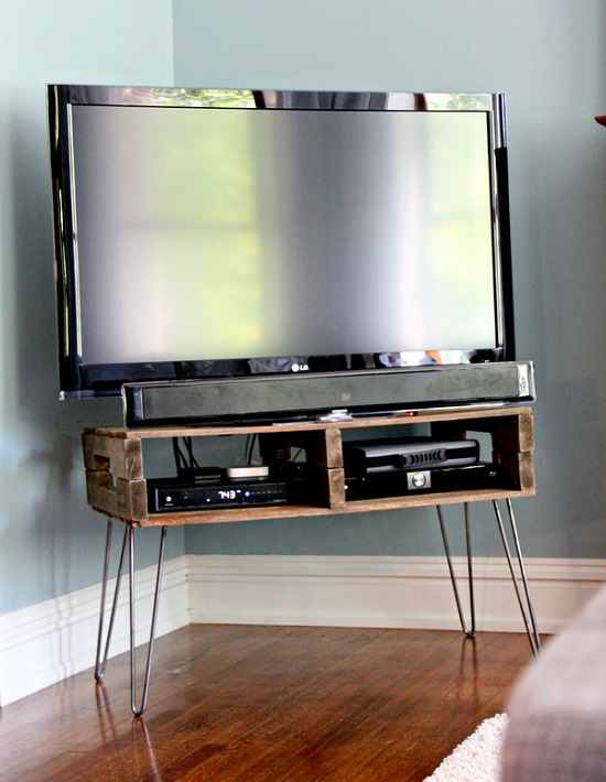 DIY Corner TV Stand Ideas