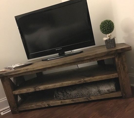 32 DIY Corner TV Stand Ideas | DIY TV Shelf
