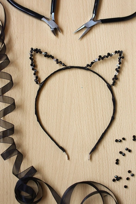 DIY Cat Ears Headband 10
