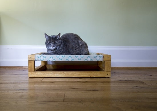 Wooden Cat Bed