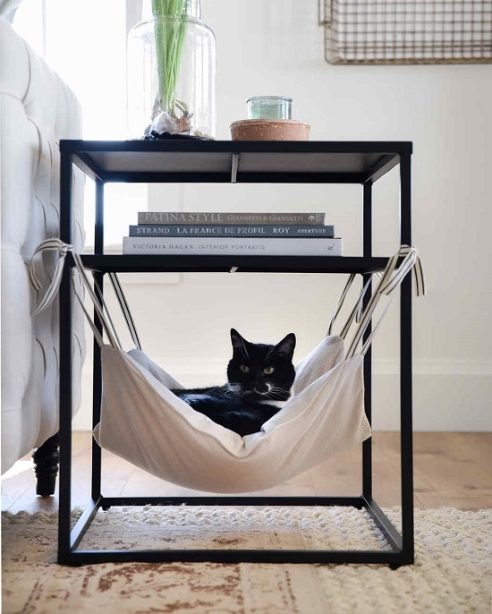 Cat Hammock Under Bed Side Table