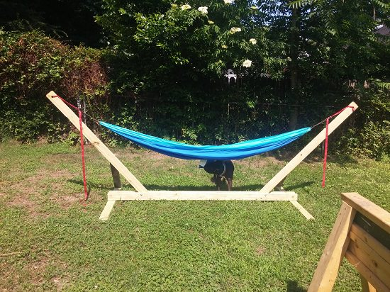 DIY Hammock Stand 2