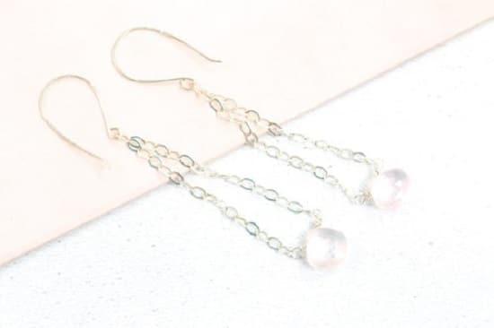 DIY Gemstone Wire Chain Earrings