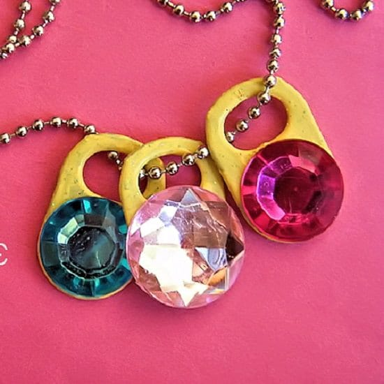 Soda Tab Gemstone Necklace