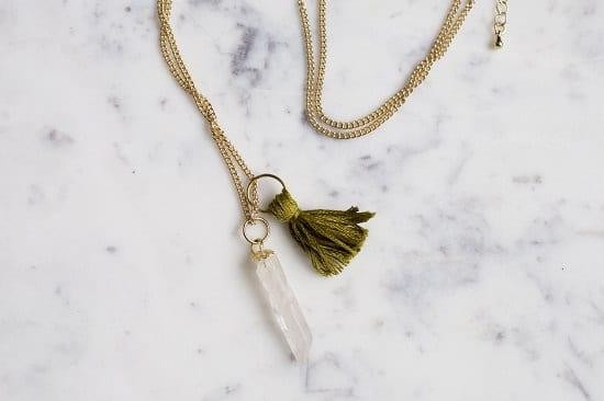 DIY Tassel Gemstone Necklace