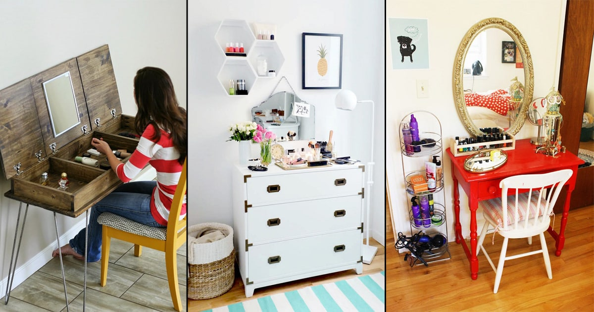 53 Diy Makeup Vanity Ideas From Repurposed Items Bright Stuffs