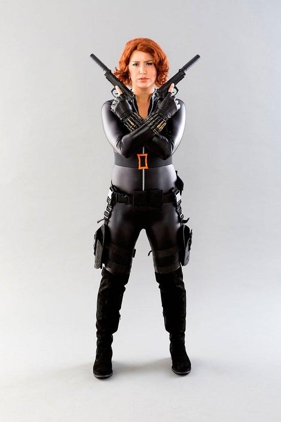 Black Widow Costume DIY1