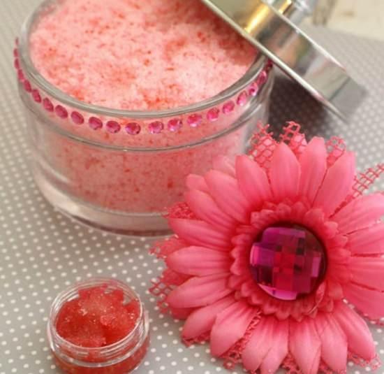 Raspberry Lip Scrub