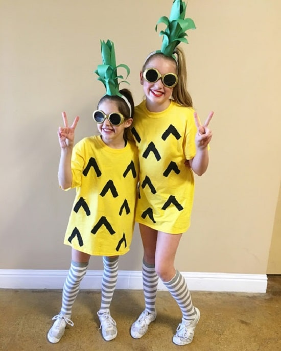 Pineapple DIY Costume14