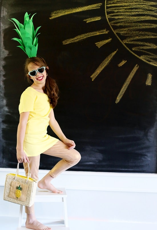 Pineapple DIY Costume3
