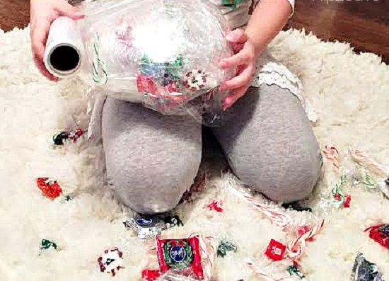 Saran Wrap Ball Game For Kids
