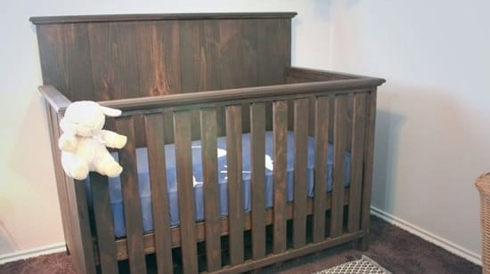Stained Poplar Wood Crib