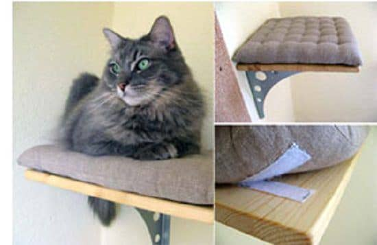 DIY Floating Cat Shelves5