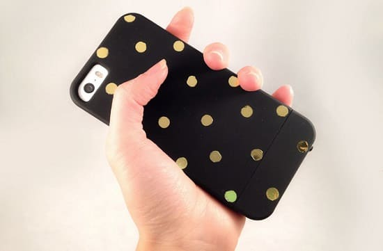 Metallic Polka Dot Case