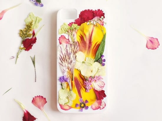 DIY Pressed Flower Back Case