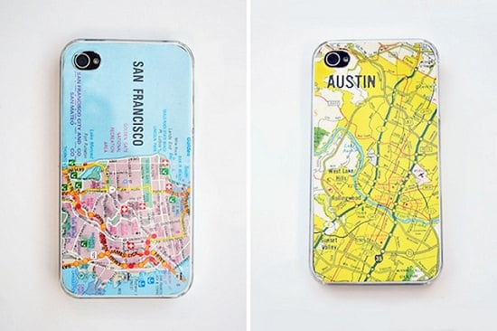DIY Map iPhone Case