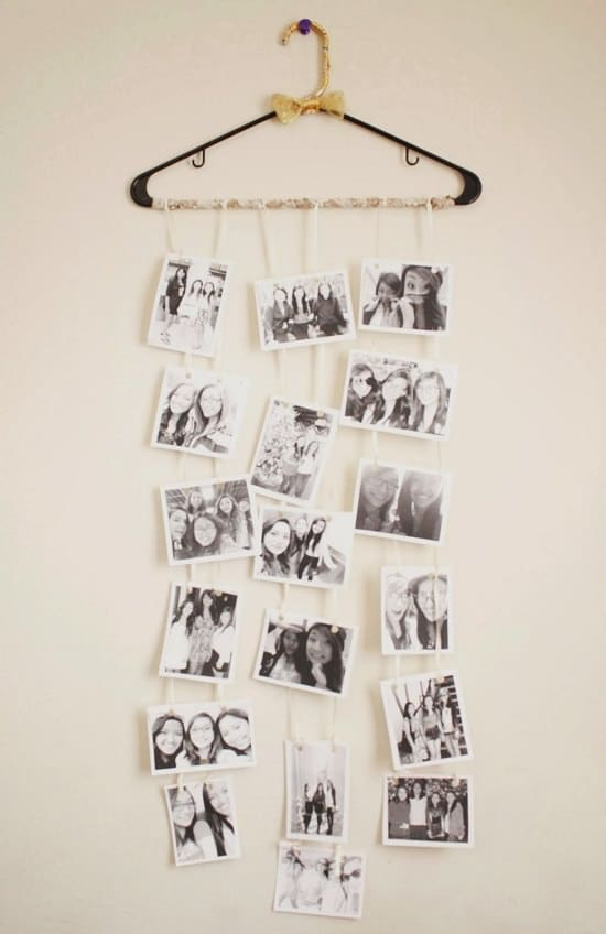 Hanger Made Photo Wall