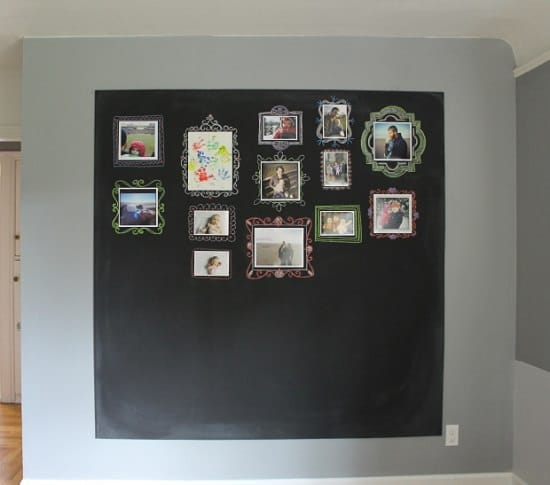 Chalkboard Gallery Photo Wall