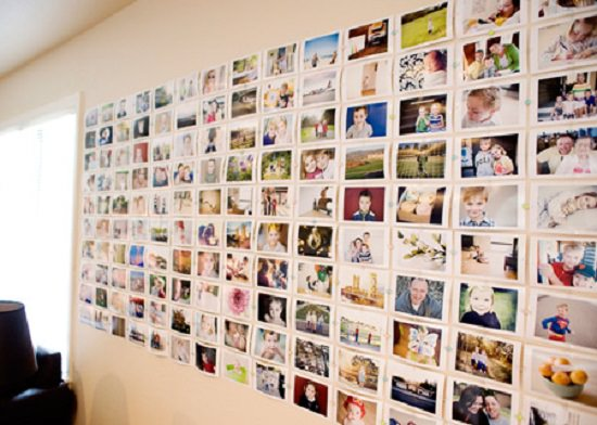 Cheap DIY Photo Wall