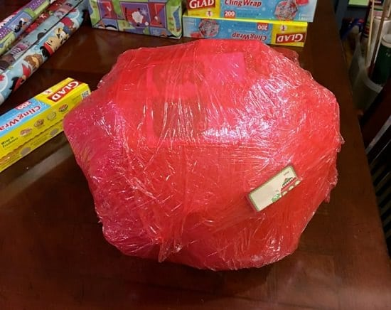 DIY Saran Wrap Ball Game Gift Ideas1