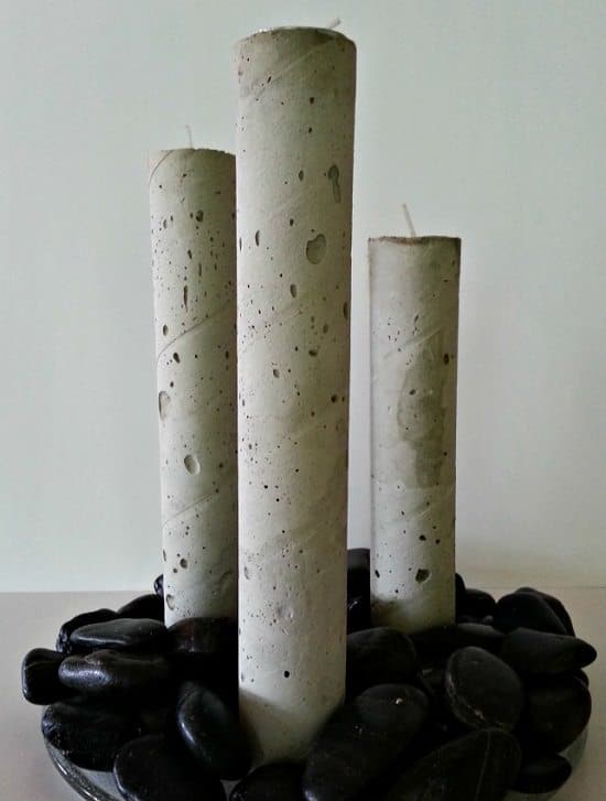 Paper Towel Rolls Candle Holder