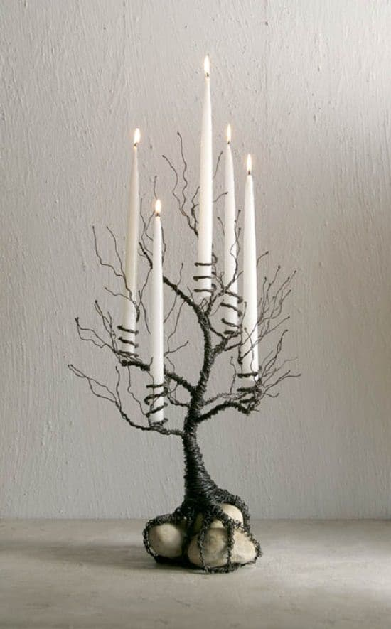 Jewelry Wire Tall Candle Holder