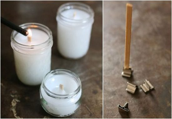 How to make a wooden candle wick