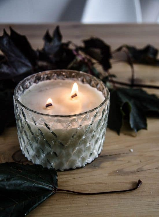 DIY Wood Wick Candles