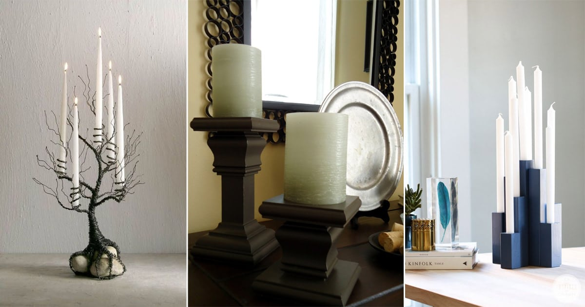 24 Diy Tall Candle Holders To Beautify Your Home Bright Stuffs