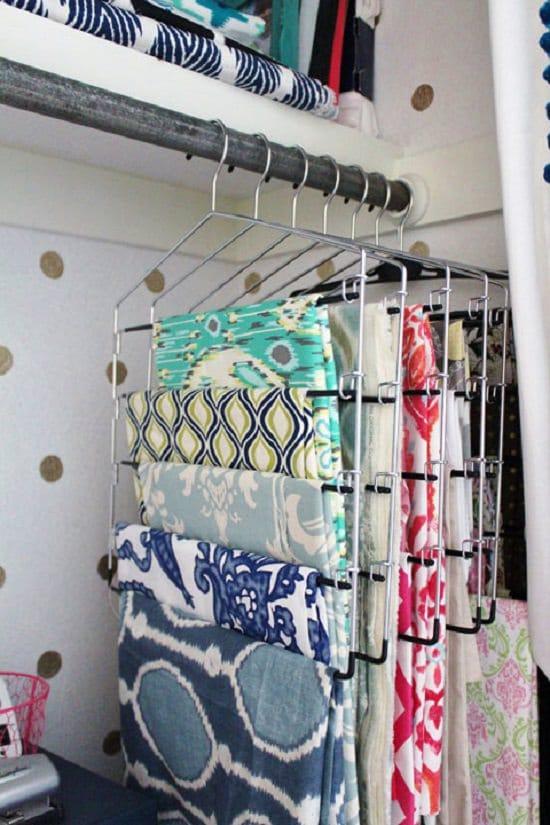 Hanging Up Fabric Scraps