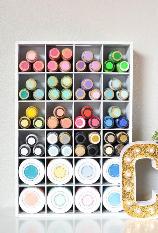 Paint Cubies Organizer