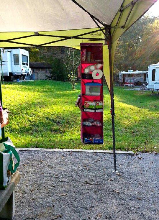 Hanging Organizer for Camping