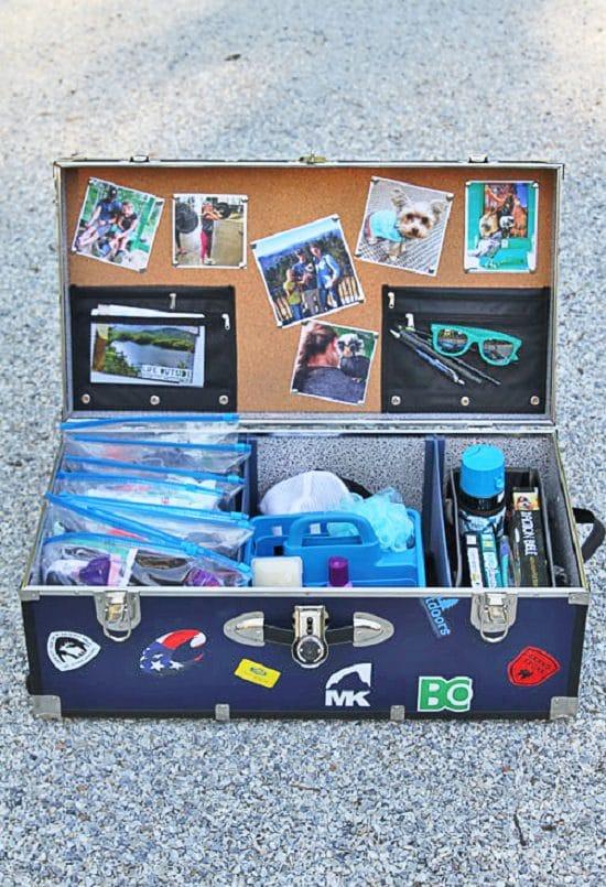 DIY Camp Trunk Organizer