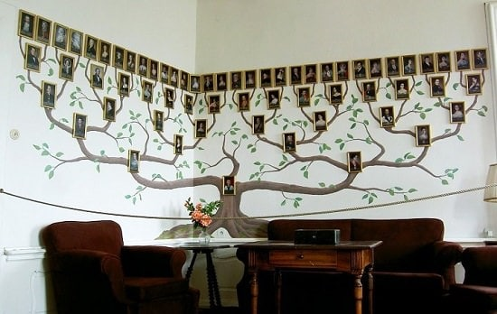 Giant DIY Family Tree Photo