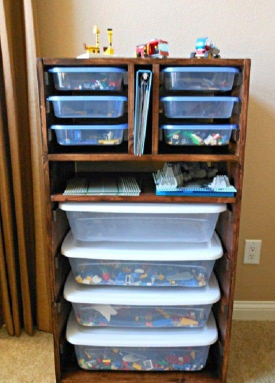 lego shelving unit
