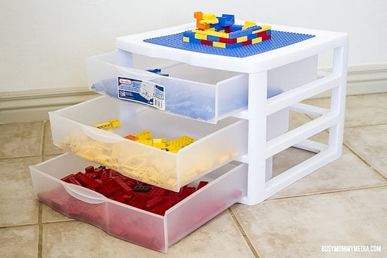 plastic drawer lego container