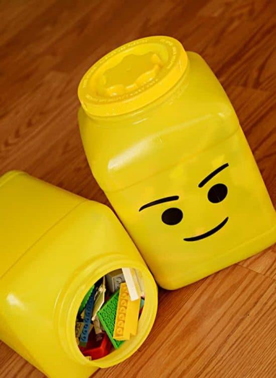 DIY lego head organizers
