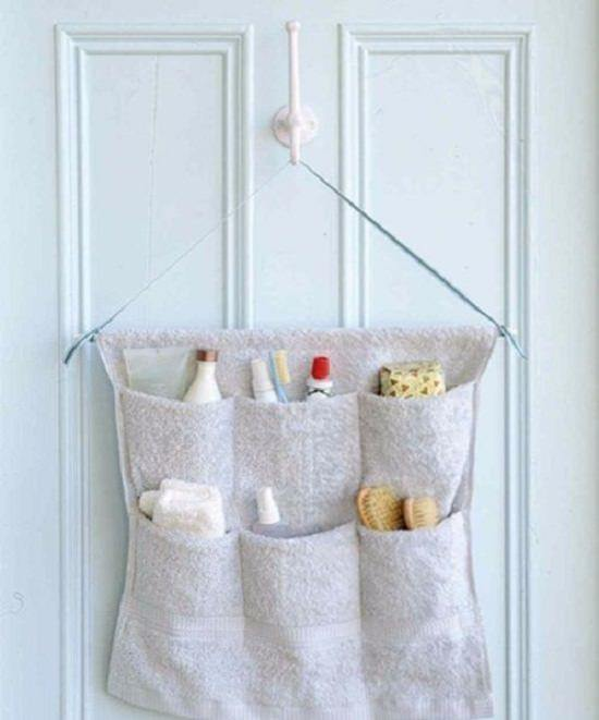 Terry-Cloth Caddy Shower Organizer