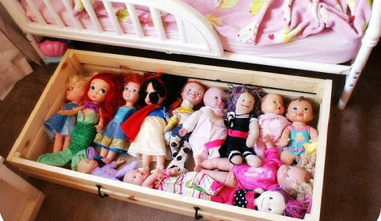 Dolls In Wooden Crates