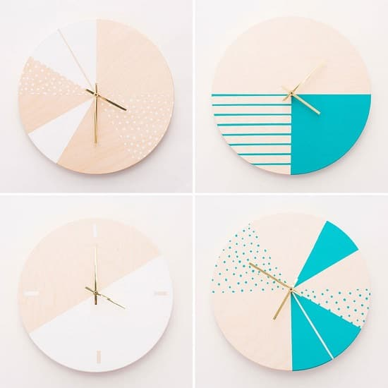 Colorblocked Clock