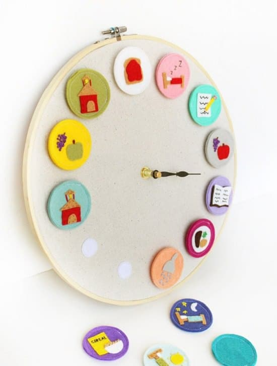 DIY Pictogram Kid's Clock