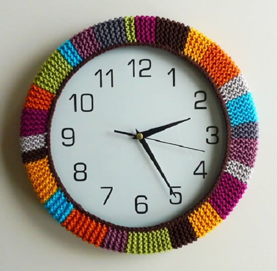 Crochet Colorful Clock
