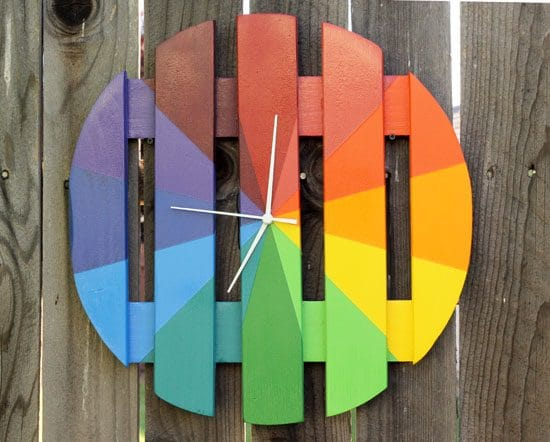 Colorful Outdoor Clock