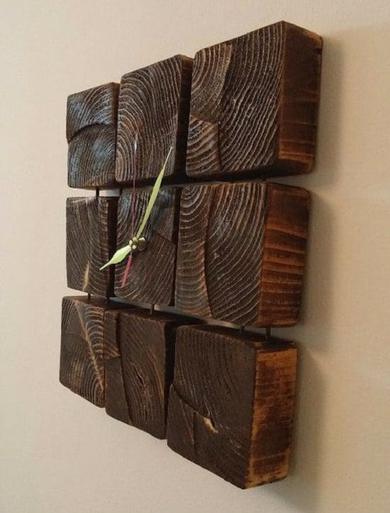 Wooden Block Clock