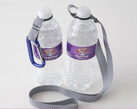 DIY O-ring Water Bottle Carrier