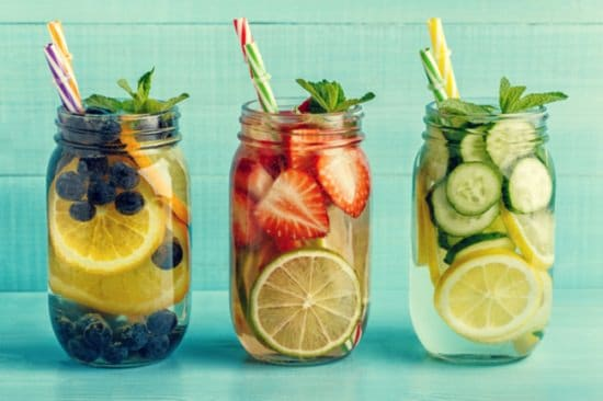Combination of Fruit-infused Water