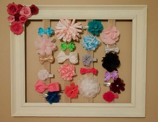 DIY Little Girl Bow Holder