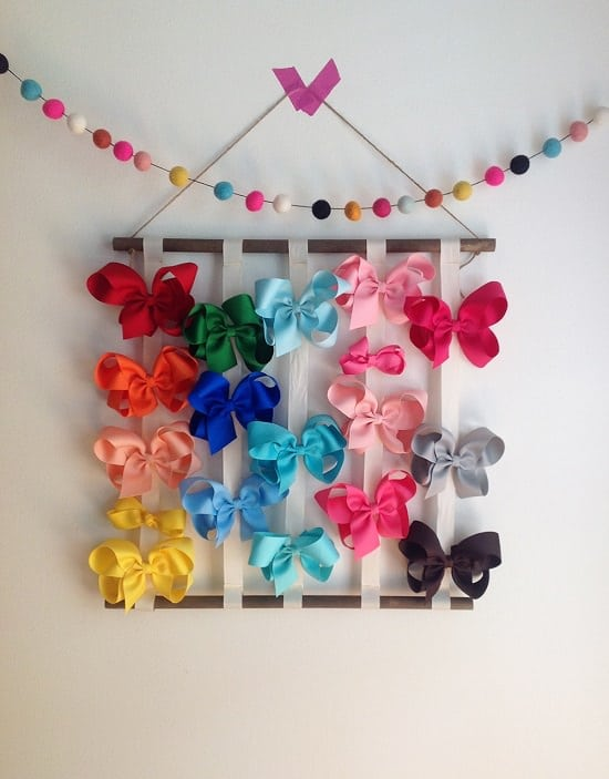 DIY Hair Bow Holder Ideas9