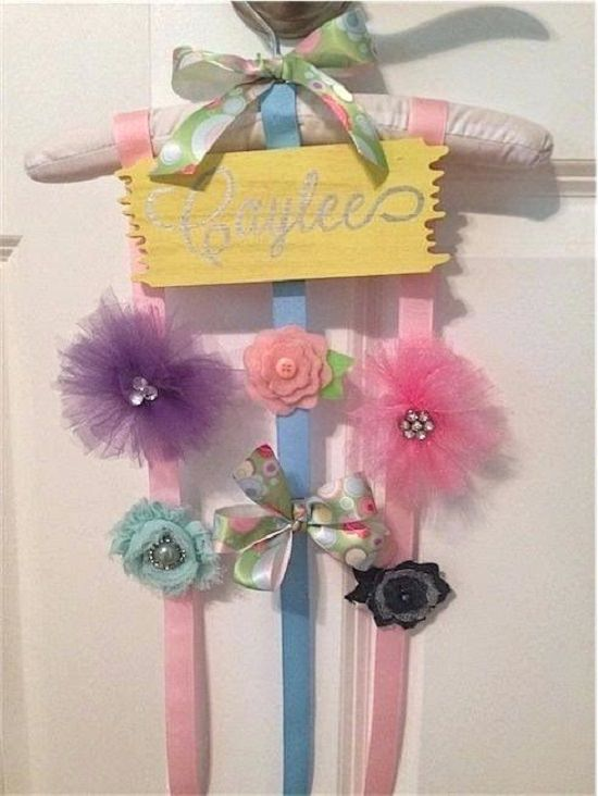 DIY Girly Hanger Holder