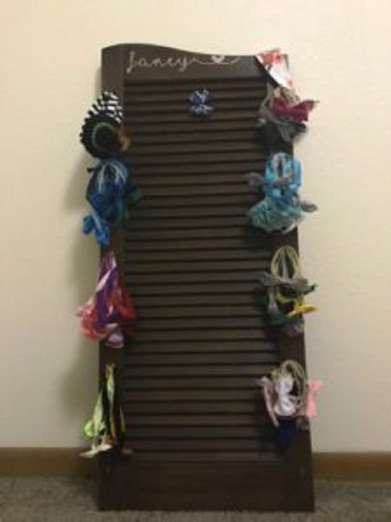 Old Shutter Hair Bow Holder